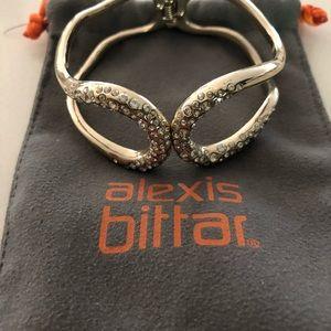 Alexis bittar gold rhinestone bangle bracelet